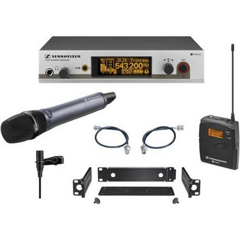 Sennheiser EW312/345-G3 Wireless Combo Microphone System with e845 Handheld & Bodypack Transmitters EW312/345-G3