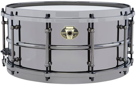 """Ludwig Drums LW6514 6.5""""x14"""" Black Magic Brass Snare Drum LW6514"""