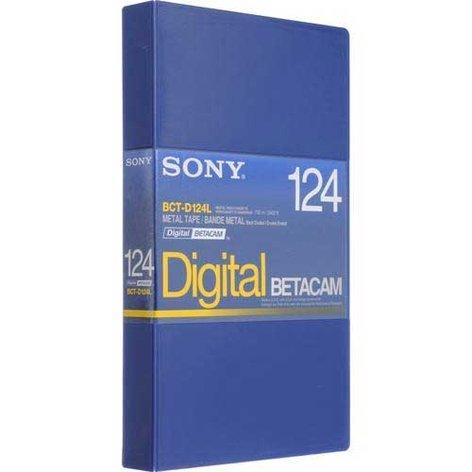 Sony BCTD124L Digital Betacam Tape, 124m, Large BCTD124L