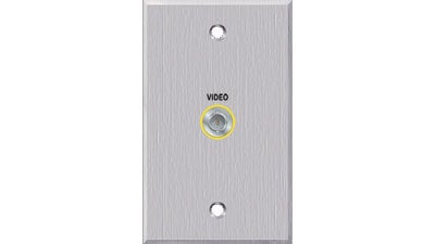 PanelCrafters PC-G1860-E-P-C  Single Gang 1 BNC Connector Passthrough Wall Plate PC-G1860-E-P-C