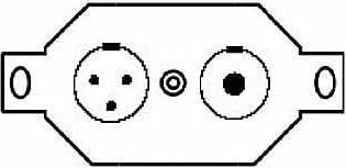 "Pro Co STP-NJ3-3FX-B Floor Plate with 1x NJ3 1/4"" Jack and 1x 3FX Speakon STP-NJ3-3FX-B"