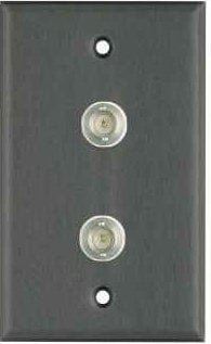 Pro Co WPBA1020 Plateworks Single-Gang Black Anodized Aluminum Wall Plate with 2x BNC Connectors WPBA1020