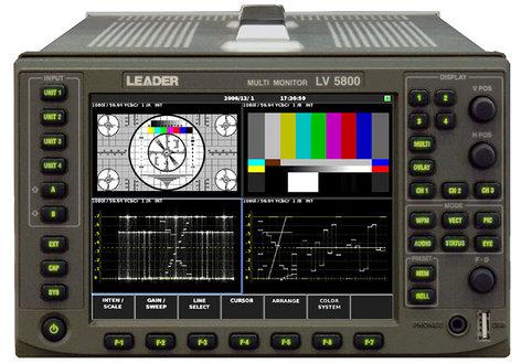 Leader Instruments LV5800  HD/SD-SDI Multi Monitor Platform LV5800