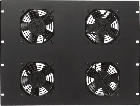 Lowell FW4-7  7RU Panel with 4 Fans FW4-7