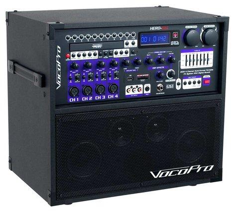 VocoPro CHAMPION-REC-BASIC  Portable PA, 2 MK-6 Wired Mics  CHAMPION-REC-BASIC