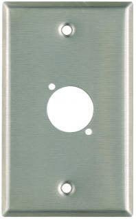 Pro Co WPUBA1004 Plateworks Single-Gang Black Anodized Aluminum Wall Plate with 1x D-Hole WPUBA1004