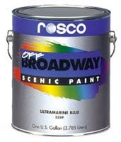 Rosco 05355-0128 1 Gallon of Raw Sienna Off Broadway Paint 05355-0128