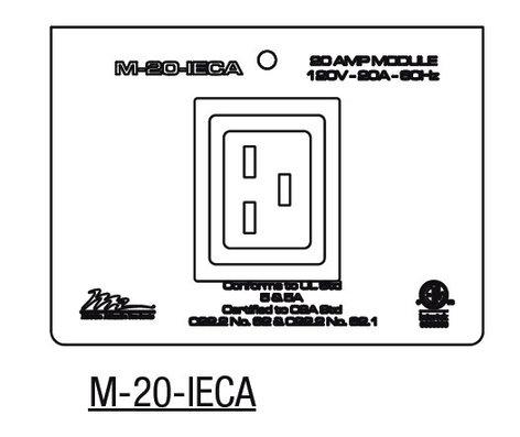 Middle Atlantic Products M-20-IECA  20 Amp 1-gang MPR IEC Module M-20-IECA