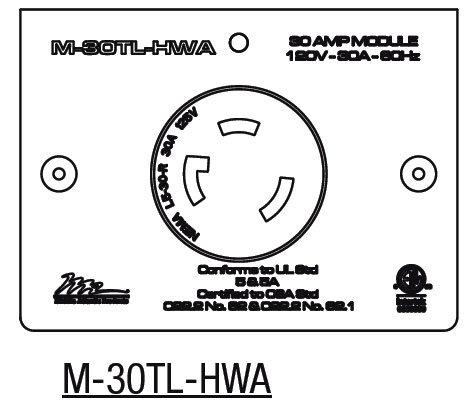 Middle Atlantic Products M-30TL-HWA  30 Amp MPR Twist Lock L5-30R (Hardwired Only) M-30TL-HWA