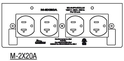 Middle Atlantic Products M-2X20A  20 Amp Double Duplex MPR Module M-2X20A