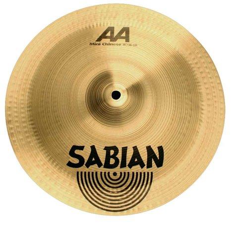 """Sabian 21216 12"""" AA Mini Chinese Cymbal in Natural Finish 21216"""