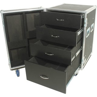 Grundorf Corp T8-DC002C Tour 8 Series 4 Drawer Case with Casters T8-DC002C