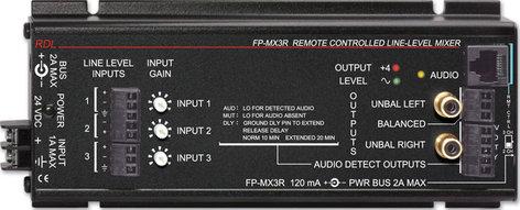 RDL FP-MX3R Remote Controlled Line Level Mixer FP-MX3R