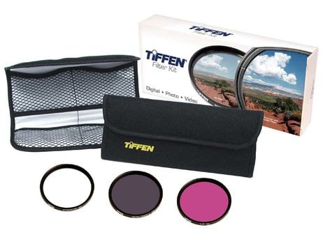 Tiffen 58DFK3 58mm Deluxe Filter Kit 58DFK3