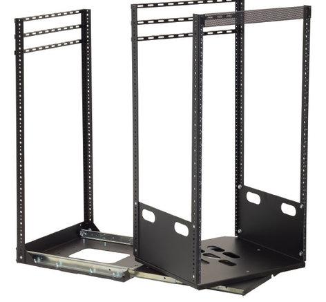 "Lowell LPTR2-1019  2-Slide Pull & Turn Rack (19""D 10 RU) LPTR2-1019"