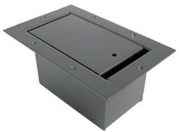 Ace Backstage 123SL-BK Vertical Half Pocket Stage Box, with Steel Bezel, Standard Pocket Body, Slant Panel, Black Powder Coat 123SL-BK