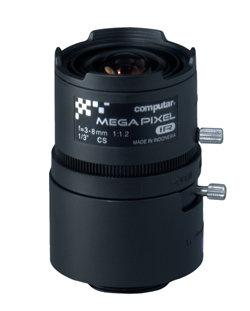 """Computar/Ganz T3Z0312CS-MPIR  1/3"""" 3-8mm f1.2 HD Lens, Manual Iris, Day/Night IR T3Z0312CS-MPIR"""
