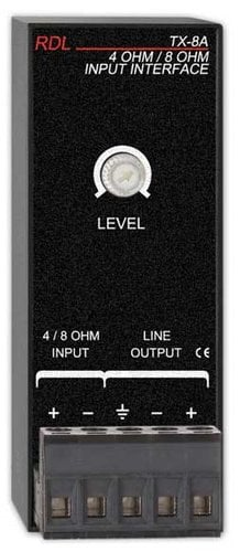 Radio Design Labs TX-8A  4/8 Ohm Input Interface  TX-8A