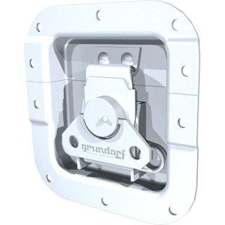 Grundorf Corp 34-013 Medium Recessd Metal Catch with Offset, Zinc 34-013