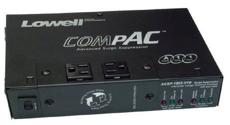 Lowell ACSP-1502-VTE 15A Compact Surge Supressor with VTE Over/Under Protection & Remote ACSP-1502-VTE