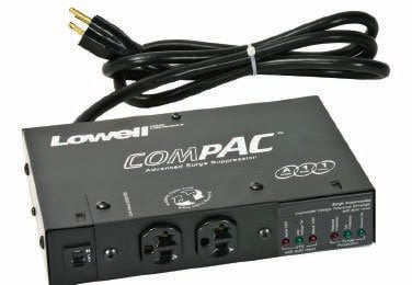 Lowell ACSP-2002-VTE  20A Compact Surge Supressor with VTE Over/Under Protection & Remote ACSP-2002-VTE