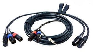 """Peter Engh Pro Audio PE-1011 M3 7-Pin Quick Release Cable System Set: 18 ft. (2) XLR-3F Mixer End and 30.5"""" Digital Camera End PE-1011"""
