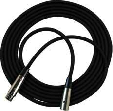 RapcoHorizon Music NBM1-50  50 ft. Black XLR-F to XLR-M M1 Series Microphone Cable with Black Neutrik XX Series Connectors NBM1-50