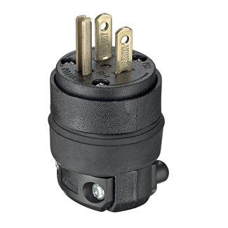Leviton 515PR 15A, 125V NEMA 5-15P 2-Pole, 3-Wire Plug 515-PR