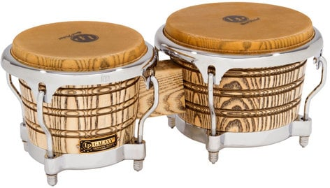 Latin Percussion LP793X-C Galaxy Giovanni Series Bongos in Natural Finish with Chrome Hardware LP793X-C