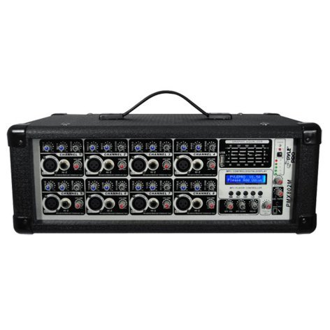 Pyle Pro PMX802M 800W 8-Channel Powered Mixer with MP3 Input PMX802M