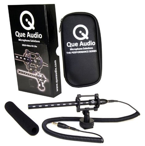 Que Audio QVIDEO-KIT-LITE Mini Shotgun Microphone Kit for DSLRs, HD Camcorders QVIDEO-KIT-LITE