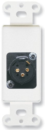 Radio Design Labs DS-XLR3M  3-Pin XLR-M Jack on Stainless Steel Decora Wall Plate DS-XLR3M