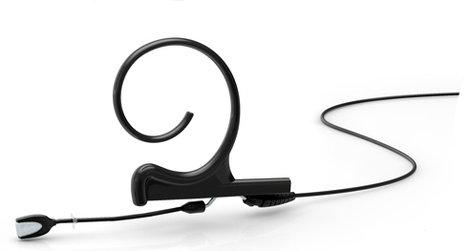 DPA Microphones FIOC00-S d:fine Black Short Boom Omnidirectional Headworn Microphone FIOC00-S