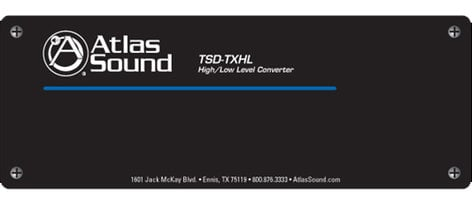 Atlas Sound TSD-TXHL  High/ Low Level Converter TSD-TXHL