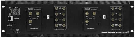 "Marshall Electronics V-MD702-HDSDIX2  Dual 7"" 3RU High Resolution LCD Rack Mount Monitor with Two HD-SDI Inputs and Loop-Through V-MD702-HDSDIX2"