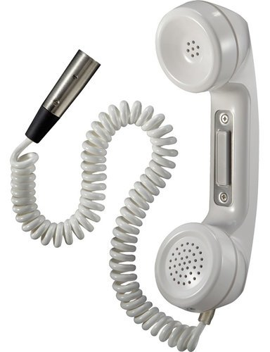 Telex HS-6000M  White Telephone-Style Push-To-Talk Handset with A4M Connector HS-6000M