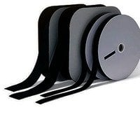 "Rose Brand VELP0001BLKFMALE  25 Yard Roll of 1"" Black Pressure Sensitive Female Loop Velcro VELP0001BLKFMALE"