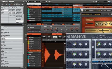 Native Instruments MASCHINE MK2 Hardware/Software Instrument Groove Box in Black MASCHINE-MK2-BLACK
