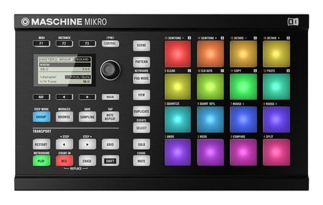 Native Instruments MASCHINE MIKRO Mk2 Hardware/Software Instrument Groove Box in Black MASCHINE-MIKRO-MK2-B