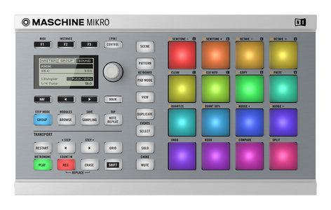 Native Instruments MASCHINE MIKRO Mk2 Hardware/Software Instrument Groove Box in White MASCHINE-MIKRO-MK2-W