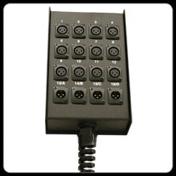 RapcoHorizon Music S9BFLR  6 x 3 Loaded XLR Out Stage Box, with Relief S9BFLR