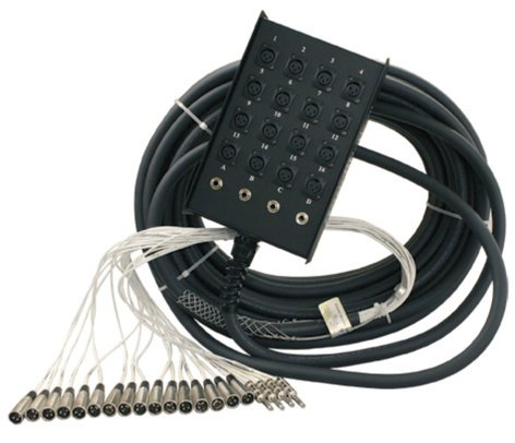 "RapcoHorizon Music S12X4-150 150 feet Stage Snake, 16 channel, 12x4 with 1/4"" returns S12X4-150"