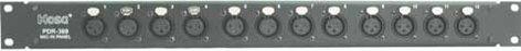 Hosa PDR369 12-Point Balanced XLR Patch Bay PDR369