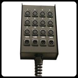 RapcoHorizon Music S16BPP 12x4 Pre-Punched Stage Box S16BPP