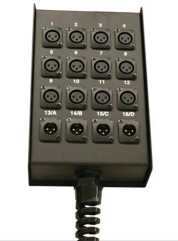 RapcoHorizon Music S28BFLR 24x4 Loaded XLR Output Stage Box S28BFLR
