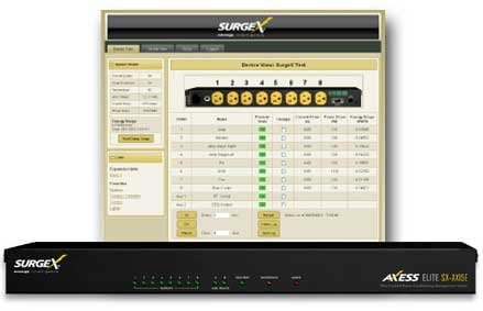 SurgeX SX-AX20E  8 Outlet, 20A Power Conditioner and Energy Management, with IP Remote SX-AX20E