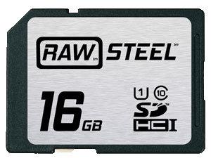 Hoodman Corporation RAWSDHC16GBU1 16GB RAW STEEL Ultra High Speed UHS-1 Card RAWSDHC16GBU1