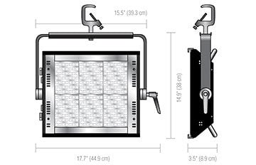 Lowel Light Mfg PRM-200TU Tungsten 3300°K Prime LED 200 Light PRM-200TU