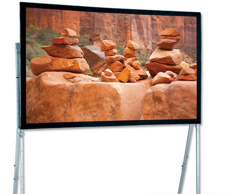 "Draper Shade and Screen 241283  120"" Ultimate Folding Screen Portable Projection Screen, Matte White 241283"