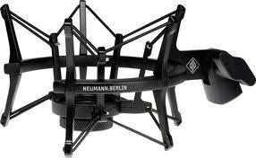 Neumann EA 4 bk Elastic Suspension Mount in Matte Black Finish for TLM 102, Sennheiser MK4 Microphones EA4-NEUMANN-BLACK